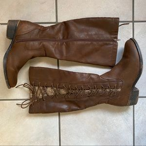 Tall brown boots from Kohl's